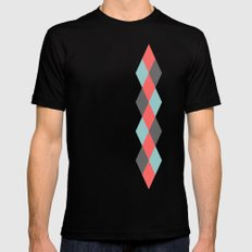 Weaving Diamonds Mens Fitted Tee Black SMALL