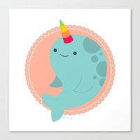 Narwhal Canvas Print