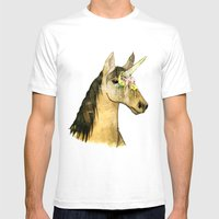 ICE CREAM UNICORN Mens Fitted Tee White SMALL