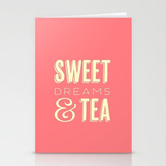 Sweet Dreams & Tea Stationery Card