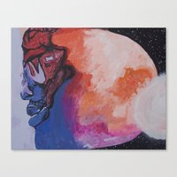 Man On The Moon (Revisit… Canvas Print