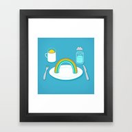 Framed Art Print featuring Start The Day With A Rai… by Rick Crane