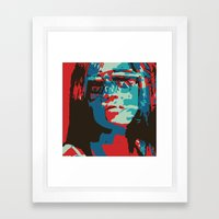 Portrait in Red Framed Art Print
