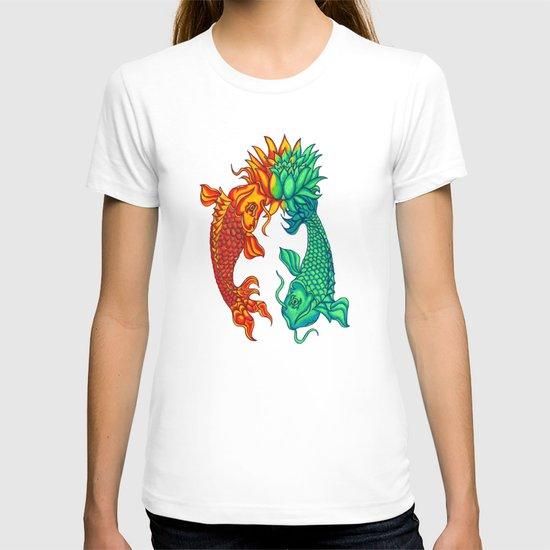 Koi Fish Lotus T-shirt