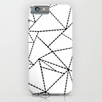 iPhone & iPod Case featuring Abstract Dotted Lines Black and White by Project M
