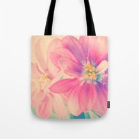 Tote Bag featuring Flowers forest  by Msimioni