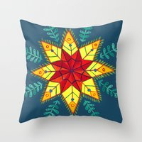 Folk Star Throw Pillow