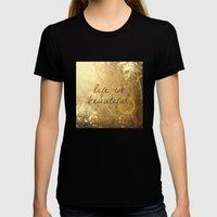 Life Is Beautiful Womens Fitted Tee Black SMALL