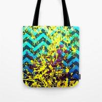 color Spatter set 3 Tote Bag