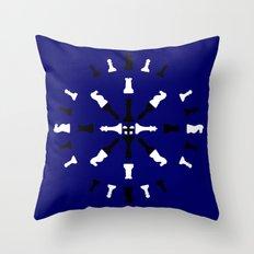 Chess Piece Design - Bla… Throw Pillow