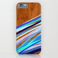 Wooden Waves Blue iPhone 6 Slim Case