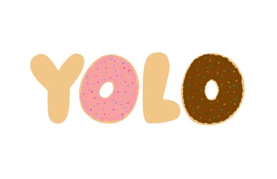 YOLO Donuts Canvas Print