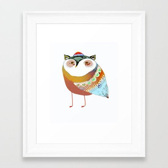 The Sweet Owl Framed Art Print