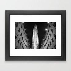 Rockefeller Center Black and White Framed Art Print
