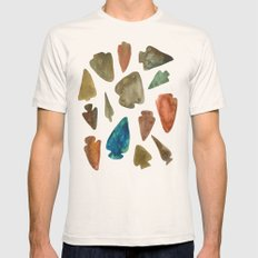 Arrowheads Mens Fitted Tee Natural SMALL