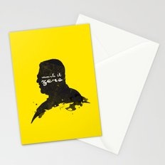 Mark it Zero –Walter Sobchak Silhouette Quote Stationery Cards