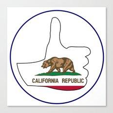 Thumbs Up California Canvas Print