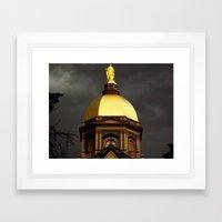 Golden Dome  Framed Art Print