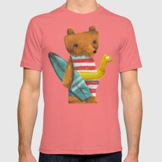 Summer Bear Mens Fitted Tee Pomegranate SMALL