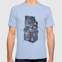 Camera Happy  Mens Fitted Tee Athletic Blue SMALL