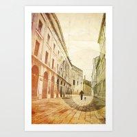 The Stroller Art Print