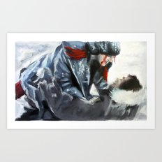 fire and ice II Art Print