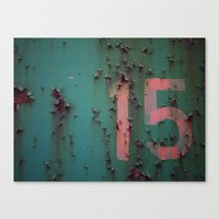 Number 15 Canvas Print