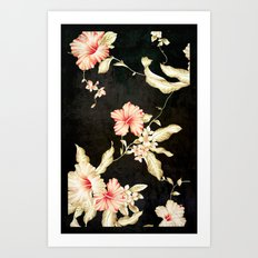 VINTAGE FLOWERS III - for iphone Art Print