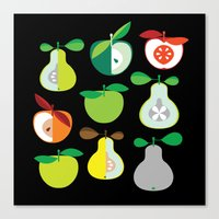 Apples And Pears / Geome… Canvas Print