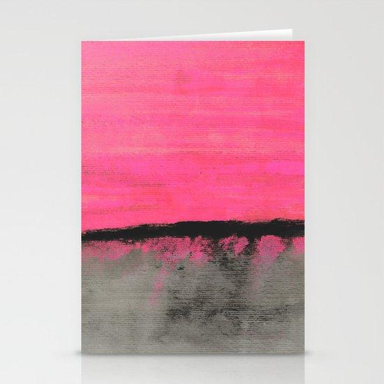 Sunset Horizon Stationery Card