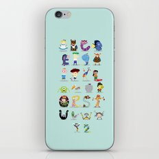 Animated characters abc iPhone & iPod Skin