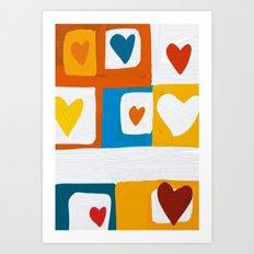 Hearts Art Print