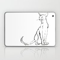 Skinny Cat Illustration Laptop & iPad Skin