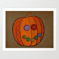 Patterned Pumpkin  Art Print