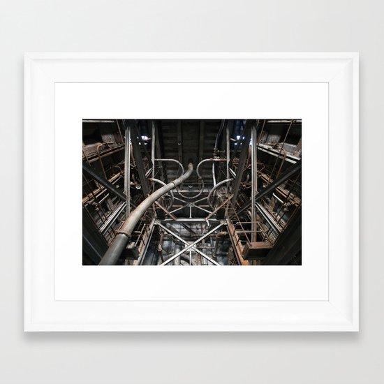 Endless Pipes Framed Art Print