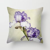 Iris Ripple Throw Pillow