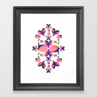 Tulip Pattern Framed Art Print