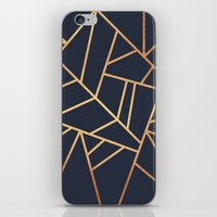 Copper and Midnight Navy iPhone & iPod Skin