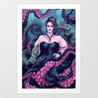 Art Print featuring Ursula by Angela Rizza