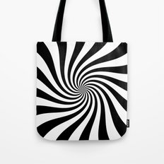 Swirl (Black/White) Tote Bag
