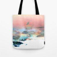 Clouds like Splattered Watercolor Tote Bag