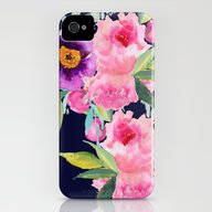 Floral Blue iPhone (4, 4s) Slim Case