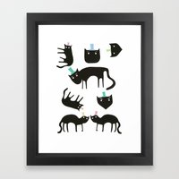 Little Cats In Colourful… Framed Art Print