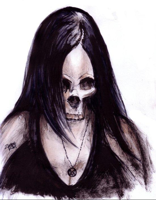 Dead-She Art Print