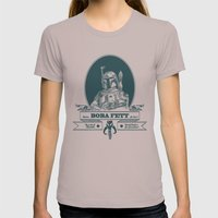 Famous Boba fett for hire! Womens Fitted Tee Cinder SMALL