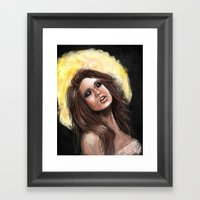 Gold Lust Framed Art Print