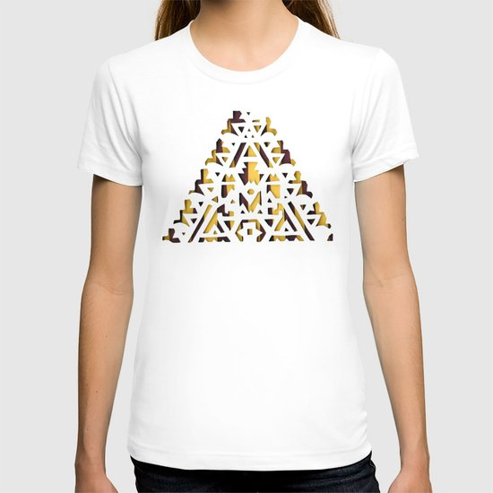 Aztec Pattern Papercut T-shirt