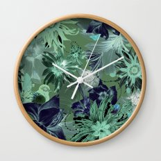 Flora Fauna (Pattern) Wall Clock