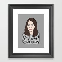 April Ludgate Is My Spir… Framed Art Print