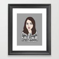 April Ludgate is my spirit animal Framed Art Print